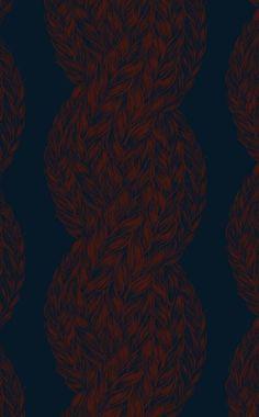 Skye Cable Wallpaper by Lake August   Design*Sponge