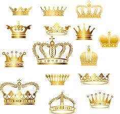 Gold Crown Clip Art Crown Clipart Digital Crown by BlueGraphic Gold Crown, Crown Royal, Queen Crown, King Queen, Baby Shower Princess, Princess Birthday, Crown Clip Art, Crown Silhouette, Prince Party