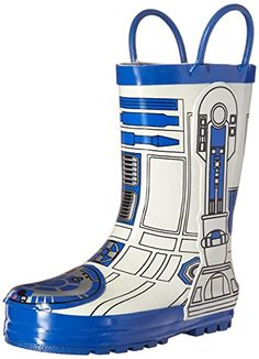 2252142a44eb Western Chief Kids Star Wars R2D2 Waterproof Pull-on Rain Boots  (Toddler Little