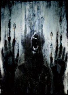 Masahiro Ito's artwork used for the Japanese box art of Silent Hill: Downpour. Michel Leiris, Depression Art, Urbane Kunst, My Demons, Giacometti, Wow Art, Dark Fantasy, Macabre, Art Drawings