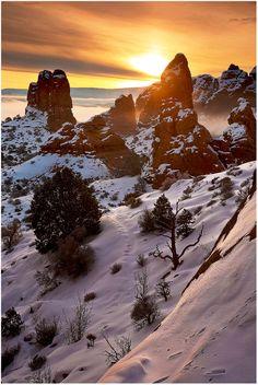 Sunrise at Arches National Park, Utah