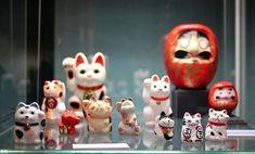 Котики  из  Музея  народов  Востока.  Москва.   Там  есть  и  Манэки - нэко.