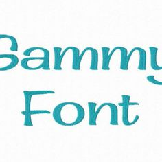Sammy Machine Embroidery Font Monogram Alphabet - 3 Sizes