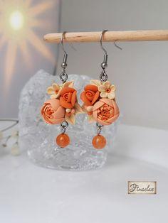 "Set "" flori în asfințit "" - Fimoclas Crochet Earrings, Jewelry, Fimo, Jewlery, Jewerly, Schmuck, Jewels, Jewelery, Fine Jewelry"