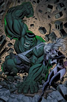 Ms. Marvel: Hulk vs. Ms. Marvel by Art Adams