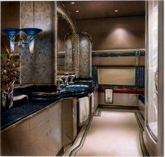 Luxury Private Jets Interior Design Sink Cabinet