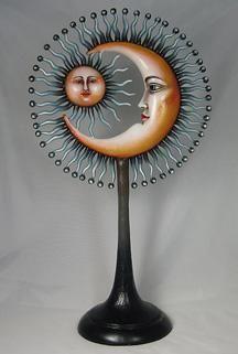 Sergio Bustamante sun moon sculpture