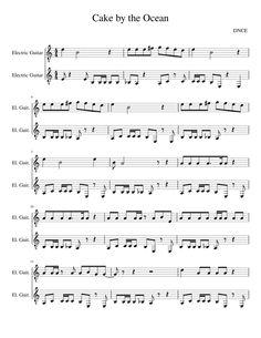 Piano Sheets DNCE — Cake by the Ocean, Joe Jonas