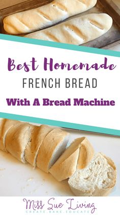 Everyone loves a loaf of fresh homemade french bread. This recipe will result in a crispy brown crust while the inside remains soft and chewy. Baguette Recipe Bread Machine, French Bread Bread Machine, Easy Bread Machine Recipes, French Bread Loaf, Best Bread Machine, Baguette Bread, Bread Maker Recipes, Bread Machine Rolls, Soft French Bread Recipe