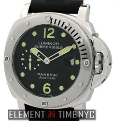 Officine Panerai Luminor Submersible 44mm iN Stainless Steel With A Black Arabic Dial (PAM 24)