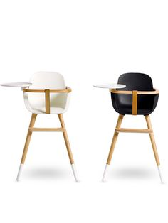 Modern retro high chair looks. I'd use this as an art piece after the baby was finished with it.