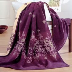 IBENA 3717/500 Messina Royal Plum Throw