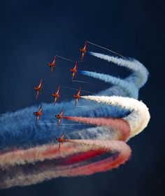 The Red Arrows - Royal Air Force Aerobatic Team. By billposter, via Flickr