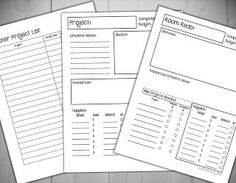 Free Printable Project Planners (Freebie)