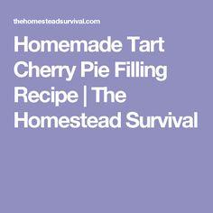 Homemade Tart Cherry Pie Filling Recipe | The Homestead Survival