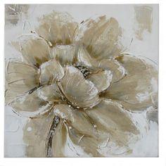 Champagne Poppy I Medium Canvas Wall Art 60 x 60CM