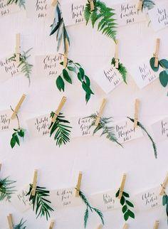 cute botanical wedding escort cards #RePin by AT Social Media Marketing - Pinterest Marketing Specialists ATSocialMedia.co.uk