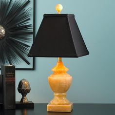 Accent Size Solid Jade Table Lamp