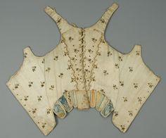 1780   Metallic Embroidered Stays, Italy.  whitakerauction.smugmug.com