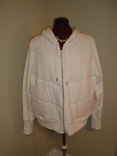 New WOT Old Navy Sz XXL Thick Winter White Hoodie Sweat Track Lounge Jacket #OldNavy #Hoodie