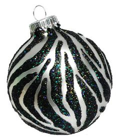 DecoArt® Zebra Striped Ornament #ornaments #craft #christmas