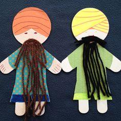 Bearded Singh puppet - story about humility. Guru Ram Das Ji & Baba Sri Chand.