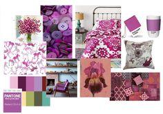 Stijlkaart Radiant Orchid. 2014/ Binnenkijken Interieuradvies. #paars, #purple, #moodboard, #sfeercollage