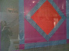 Amish quilt at American Folk Art Museum