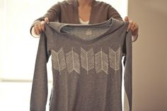 DIY stamped arrow tee