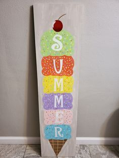 Rustic Crafts, Pallet Crafts, Handmade Crafts, Diy Crafts, Wooden Welcome Signs, Wooden Signs, Summer Porch Decor, Bunny Painting, Summer Deco