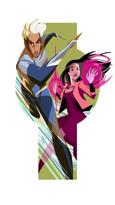Art of Quicksilver and Scarlet Witch