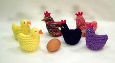 Ravelry: Chicken and Duck Egg Cozies (Easter) pattern by Claudia Lowman Baby Hat Knitting Patterns Free, Baby Knitting, Crochet Patterns, Knitted Baby, Free Knitting, Free Crochet, Octopus Crochet Pattern, Chicken Pattern, Crochet Chicken