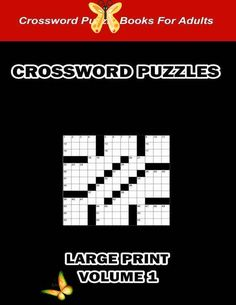 Digital Download 100 Printable Crossword Puzzles For Adults | Etsy  <br> Crossword Puzzle Books, Printable Crossword Puzzles, Adult Fun, Adult Games, Lateral Thinking Puzzles, Quotes By Famous People, Large Prints, Book Activities, Printables
