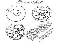 Jewerly Tattoo Designs Jewellery For 2019 Gravure Metal, Tattoo Painting, Motif Arabesque, Filigree Tattoo, Leather Tooling Patterns, Ornament Drawing, Wood Carving Patterns, Metal Engraving, Scroll Design