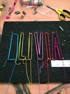 Easy string art. Names