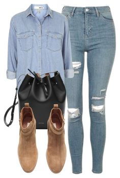 """""""Untitled #6061"""" by laurenmboot ❤ liked on Polyvore featuring Topshop and H&M"""