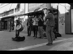 Muchatrela Band busking in Athens, Greece- Diga Diga Do- Cover