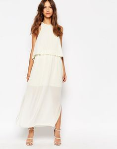Image 4 ofDarccy Midi Dress with Pleat Layer Top