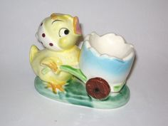 Vintage Yellow Spring Easter Yellow Chicken by BrilbunnySelections, $35.99