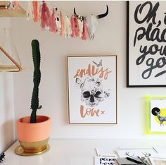 Creative Spaces of local and inspiring people- Colour & Skulls
