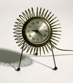 50s Mid Century Modern Wire Table Clock