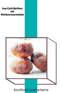 Endlich leckere Berliner ohne Kohlenhydrate #lowcarb #keto #lowcarbkrapfen #lowcarbberliner #lowcarbpfannkuchen. Egal wie du sie nennen magst, endlich gibt es sie bei uns im Shop! Es ist ein lecker, lockerer Lower Carb Hefeteig gefüllt mit LowCarb Hagebuttemarmelade: Glutenfrei, ohne Zucker, ohne Mehl! Jetzt erhältlich: www.soulfood-lowcarberia.de Low Carb Restaurants, Low Carb Desserts, Baked Potato, Donuts, Muffins, Cupcakes, Snacks, Baking, Breakfast