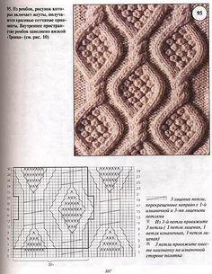 Узор ромбы спицами схемы и описание