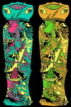 Stoked to share the new limited edition PangeaSeed X Grass Hut Art Market X Bearturds collaborative skate decks.    PangeaSeed wanted a new rad hammerhead for their west coast summer tour - The Great West Coast Migration - and we couldn't think of anyone better to mastermind these decks than Brandon Bwana Spoons.    Left side is for the tour - right side is a short run for Bwana's homies.