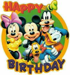 Mickey Mouse is a cartoon mouse character who usually wears the white gloves, red shorts and yellow shoes. Mickey Mouse became one of the most remarkable Disney Disney Happy Birthday Images, Happy Birthday Mickey Mouse, Birthday Wishes For Kids, Happy Birthday Pictures, Birthday Wishes Cards, Happy Birthday Messages, Happy Birthday Quotes, Happy Birthday Greetings, Birthday Fun