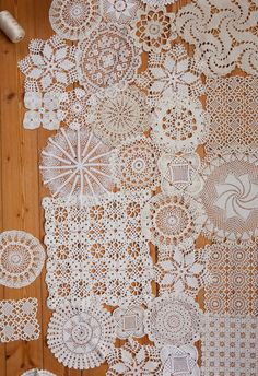 Something I like about mis-matched doilies sewn together into a textile