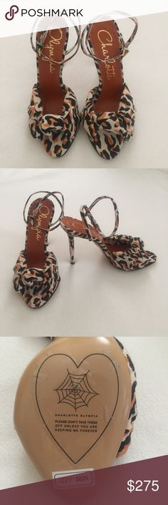 🆕 Charlotte Olympia Heels ❤️ New with original stickers! Never worn! Adorable heels in leopard print retail for $825! Please leave a comment with any questions 💖 note these do not come with box but are still brand new! Charlotte Olympia Shoes Heels