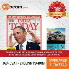 India Today English 1 Year Subscription at Lowest Rate from Infibeam's MagicBox !   OFFER : Subscribe And Get A Chance To Win A Renault Duster, Plus Other Amazing Gifts Through Lucky Draw !  Assuring Lowest Price in Magic Box Deals!   HURRY ! OFFER ENDS TODAY MIDNIGHT !  #MagicBox #Deals #DealOfTheDay #Offer #Discount #LowestRates #IndiaToday #1Year #Subscription #Magazine