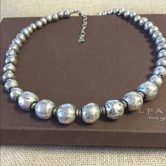 Sterling Silver necklace Silpada oxidized, Electroformed Sterling Silver bead necklace. Retired N1953 Silpada Jewelry Necklaces
