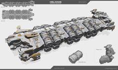 Helionis - refueling spaceship by Obey-art on DeviantArt Star Citizen, Concept Ships, Concept Cars, Obey Art, Starship Concept, Sci Fi Spaceships, Space Engineers, Spaceship Design, Spaceship Art